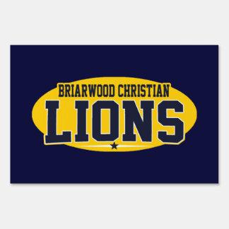 Briarwood Christian; Lions Yard Sign