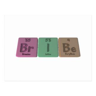 Bribe-Br-I-Be-Bromine-Iodine-Beryllium.png Postcard