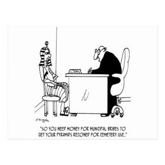Bribe Cartoon 9515 Postcard
