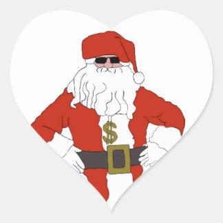 Bribe Santa Heart Sticker