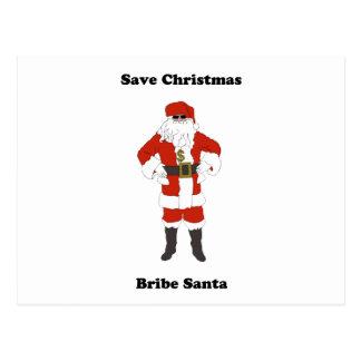 Bribe Santa Postcard