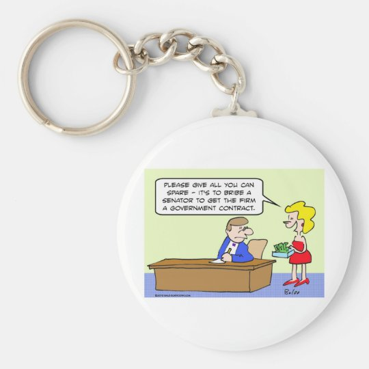 bribe senator government contract keychain