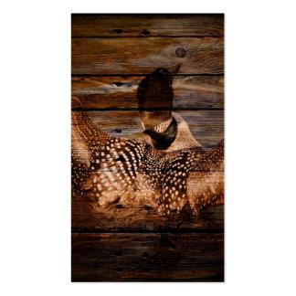 Bribón clásico en la madera del granero tarjetas de visita