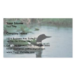 Bribón común en el agua plantilla de tarjeta personal