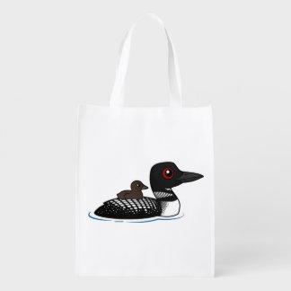 Bribón con el polluelo bolsa de la compra