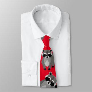 Bribón del rojo del mapache corbata fina