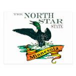 Bribones del estado de la estrella del norte de postal