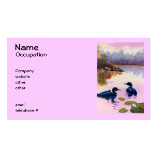 Bribones en las tarjetas de visita crepusculares