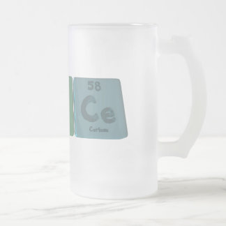 Brice as Bromine Iodine Verium Frosted Glass Beer Mug