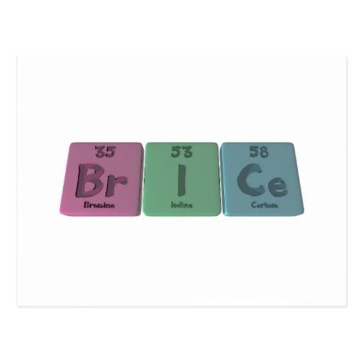 Brice as Bromine Iodine Verium Post Card