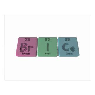 Brice as Bromine Iodine Verium Postcard