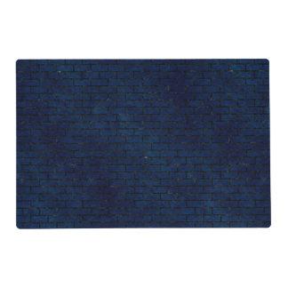 BRICK1 BLACK MARBLE & BLUE GRUNGE (R) PLACEMAT