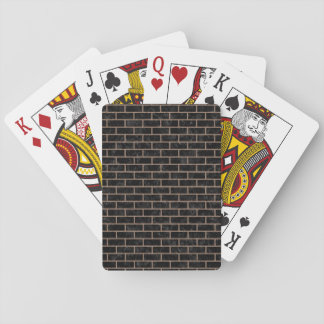 BRICK1 BLACK MARBLE & BROWN COLORED PENCIL PLAYING CARDS