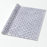 Brick1 Black Marble & White Marble (r) Wrapping Paper at Zazzle