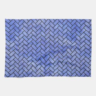 BRICK2 BLACK MARBLE & BLUE WATERCOLOR (R) TOWEL