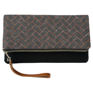 BRICK2 BLACK MARBLE & RED MARBLE CLUTCH