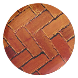'Brick Abstract' Plate