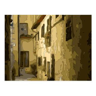 Brick Alleyway in Italy Postcard