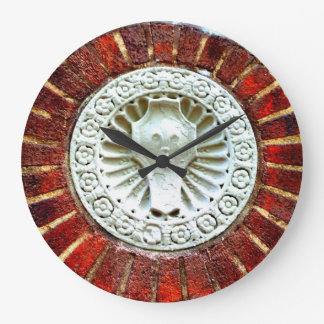 Brick and Carved Stone Clock