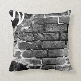 Brick and graffiti loft toss pillow