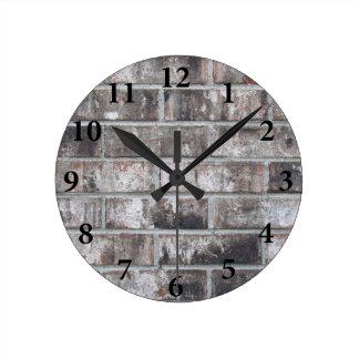 Brick and Mortar (printed: not made from bricks) Round Clock