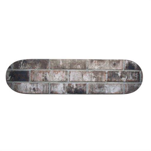 Brick and Mortar (printed: not made from bricks) Custom Skate Board