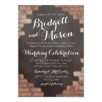 Brick and Slate Graffiti Wedding Invitation