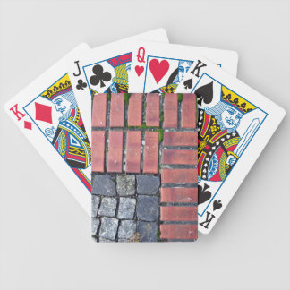 Brick and Stone Pavement Background Bicycle Playing Cards