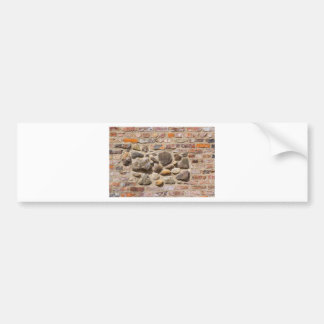 Brick and stone wall bumper sticker