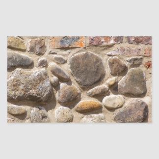 Brick and stone wall rectangular sticker