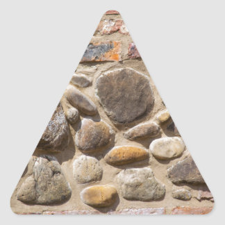 Brick and stone wall triangle sticker