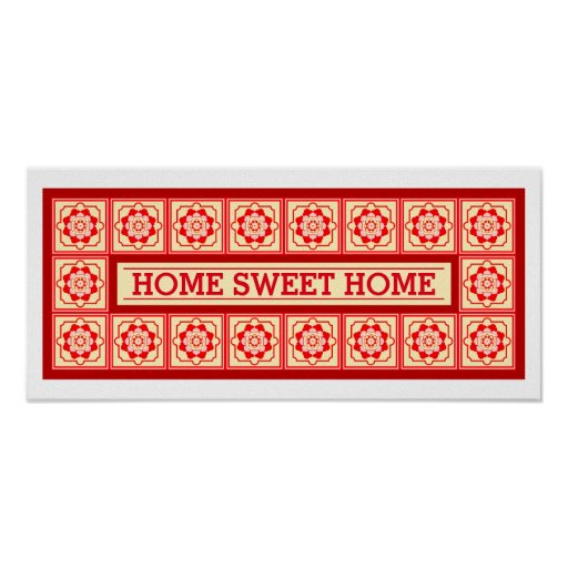 Brick And Tan Customizable Home Sweet Home Decor Poster