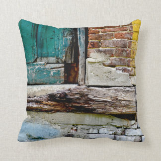 Brick and Wood Vintage Rustic Pillow