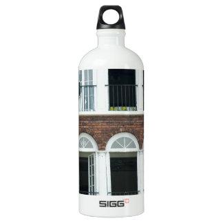 Brick Apartments Aluminum Water Bottle