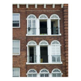 Brick Apartments Postcard