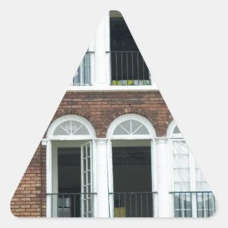 Brick Apartments Triangle Sticker