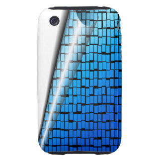 Brick Blue pattern iPhone 3 Tough Covers