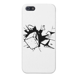 Brick Breaking Window by Chillee Wilson iPhone 5 Covers