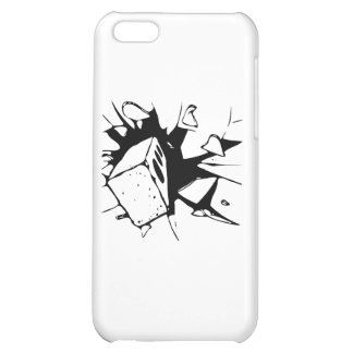 Brick Breaking Window by Chillee Wilson Cover For iPhone 5C