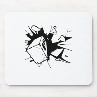 Brick Breaking Window by Chillee Wilson Mouse Pad