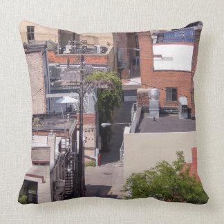Brick Buildings In Ann Arbor Throw Pillow