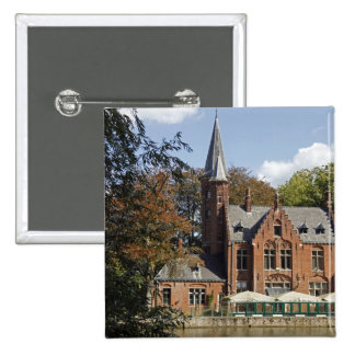 Brick church on Minnewater 2 Inch Square Button