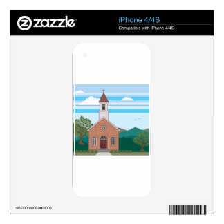 Brick church vector landscape skin for the iPhone 4S
