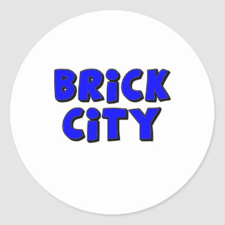 Brick City by Customise My Minifig Classic Round Sticker