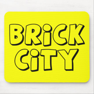 Brick City by Customize My Minifig Mouse Pad