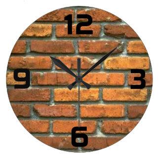 Brick Clock-round Large Clock