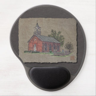 Brick Country Church Gel Mouse Pad