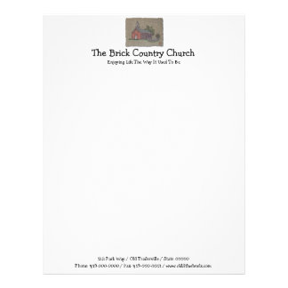 Brick Country Church Letterhead Design