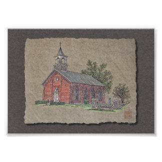 Brick Country Church Photo