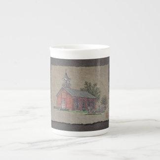 Brick Country Church Tea Cup